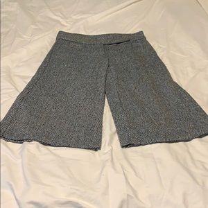 Pants - [Smoosh] Wide leg herringbone gauchos.